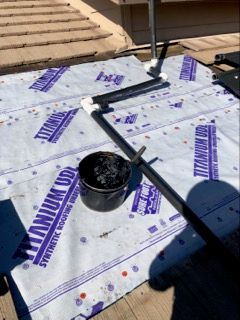 Roof Repair with new Titanium Underlayment