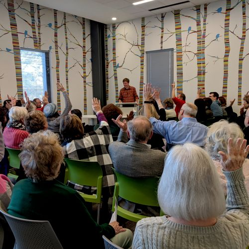 The opening festivities for the public library in Cary, NC.