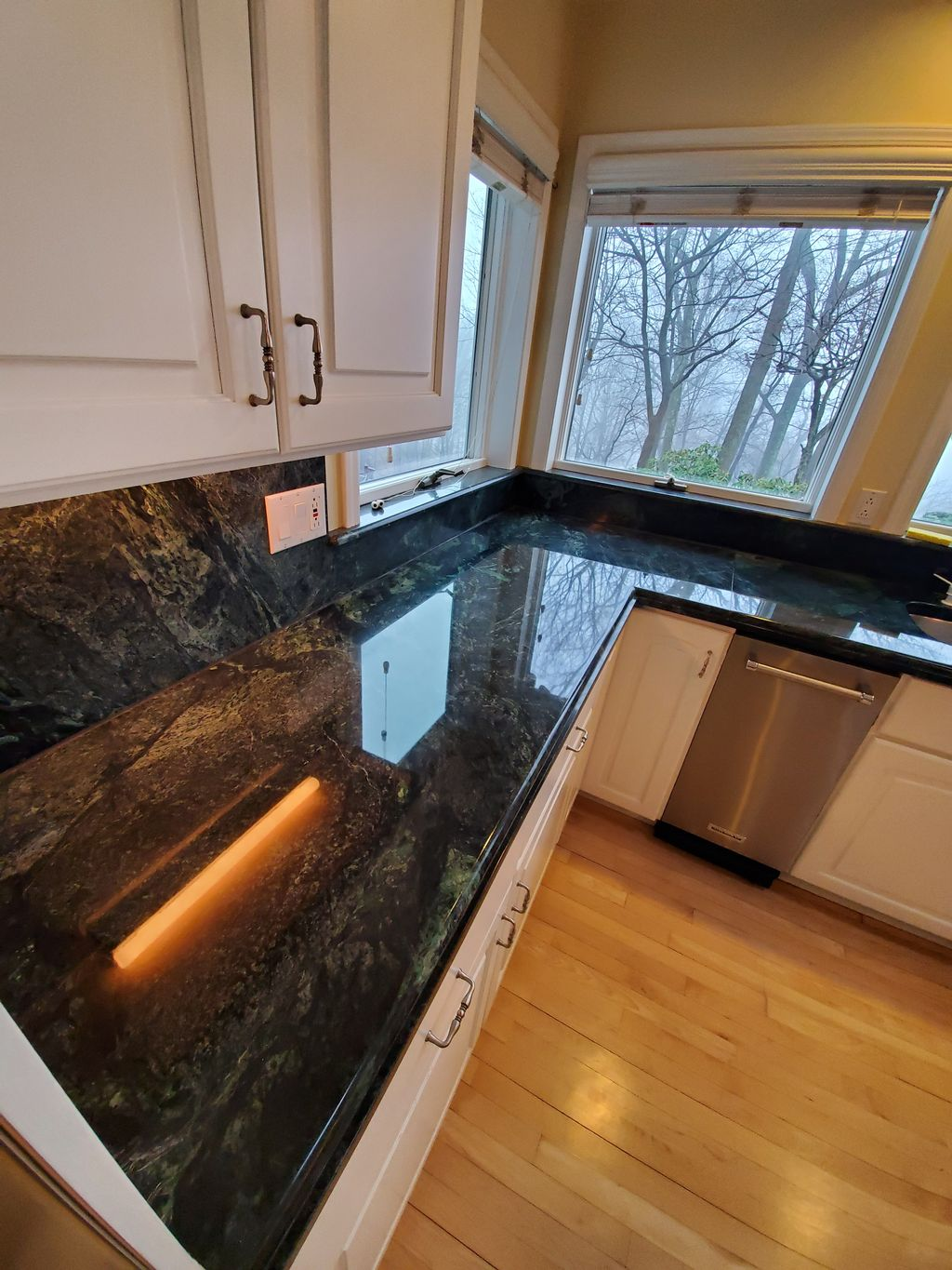 Removed Stains And Repolished and Sealed Kitchen Countertop