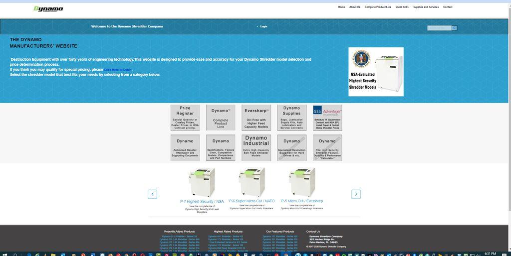 Dynamo Shredder Company Website