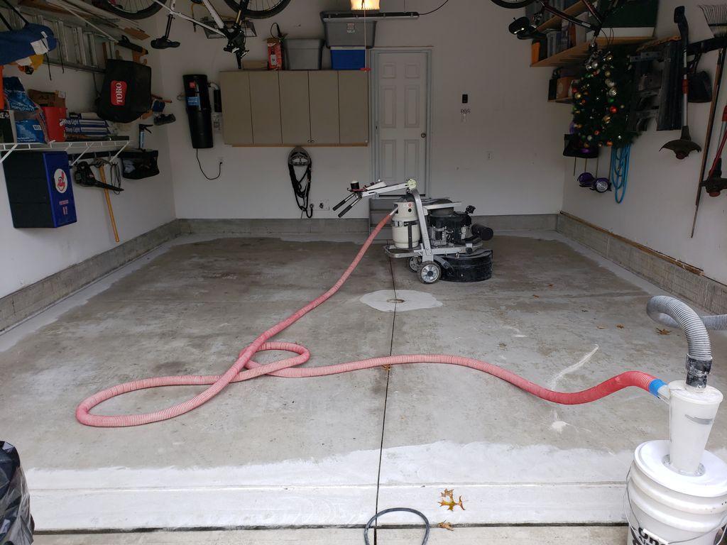 Garage floor repair and coating
