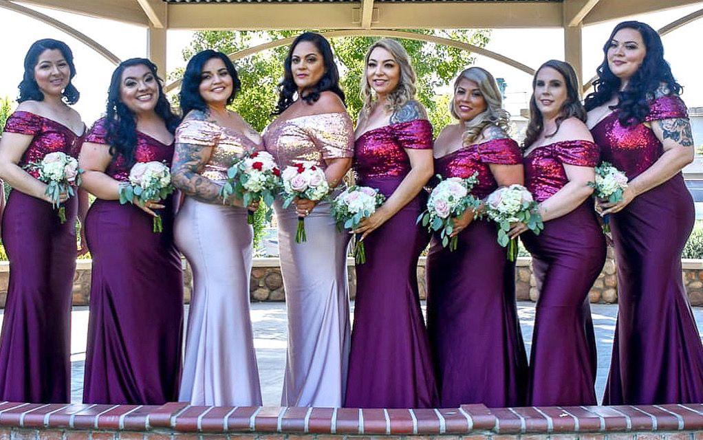 Bridesmaids hairstyling and makeup