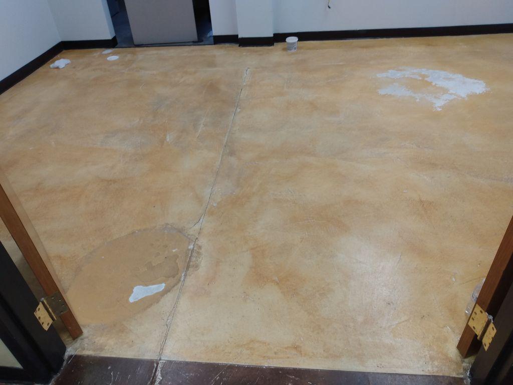 Rust - Oleum , Metallic floor Coating