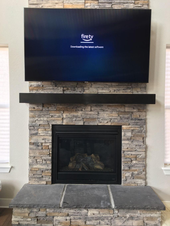 Samsung 75 inch on wall TV installation