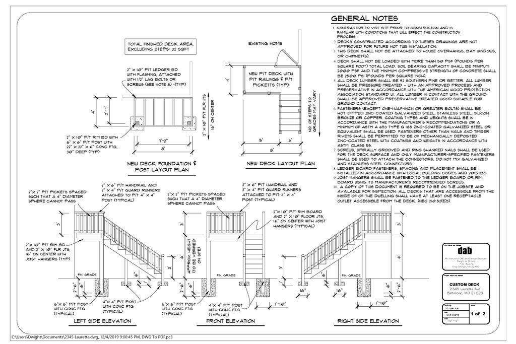 New Deck Plan