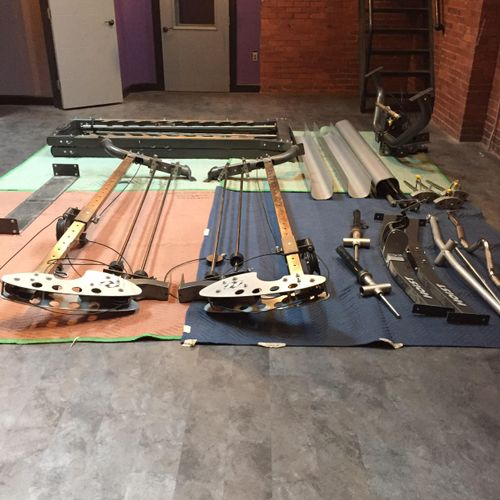The components of the Hoist machine ready for loading.