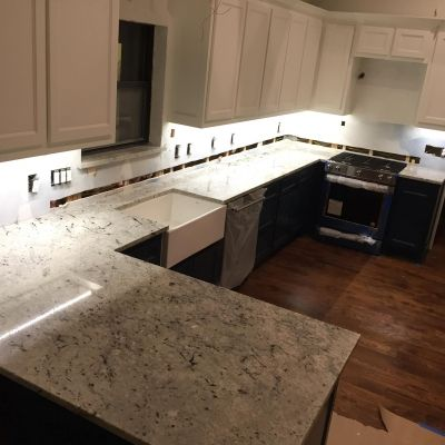 Colonial White Granite Kitchen