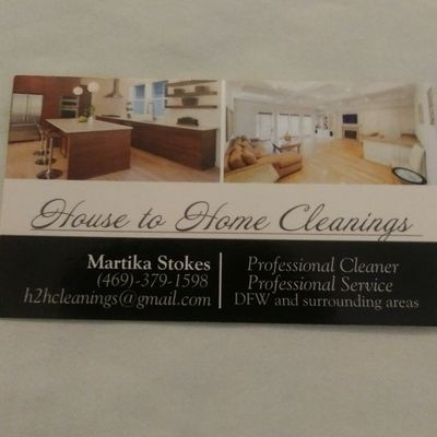 Avatar for House to Home Cleanings Desoto, TX Thumbtack