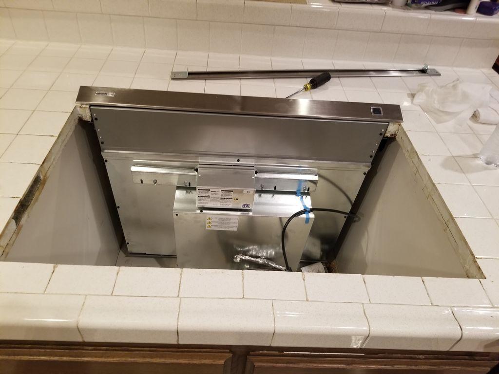 Installed downdraft
