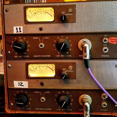 Vintage microphone preamps help us get the sound correct at the source.