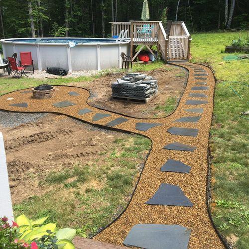 Bluestone walkway installed