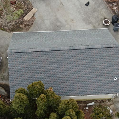 Finished garage re-roof