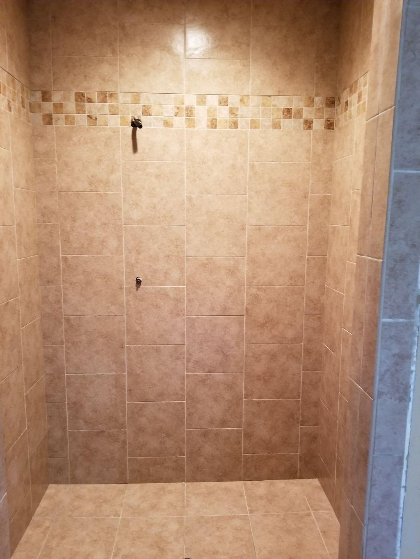 Tile master bath and carpet