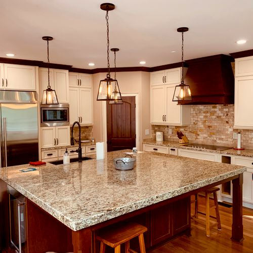 Full kitchen remodel with custom cabinets/countertops