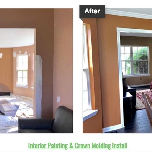 Interior Painting & Crown Molding