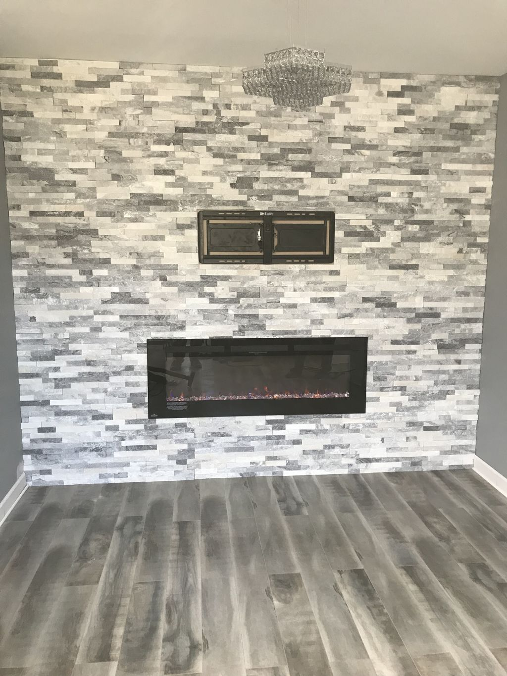 One more fireplace is done