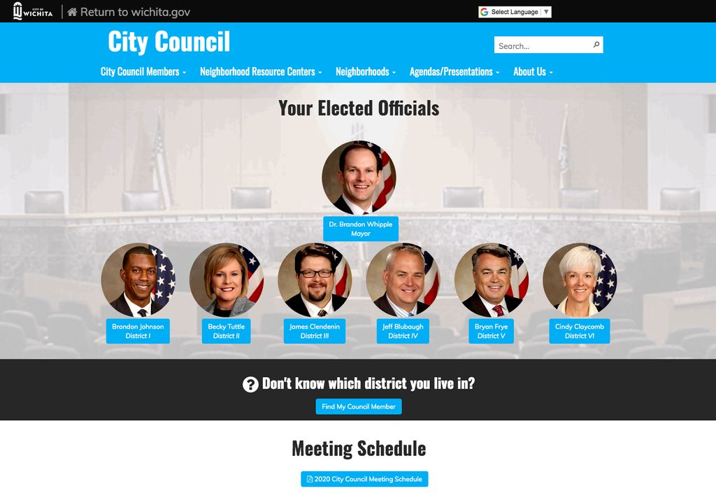 Photography of new Mayor and City Council members