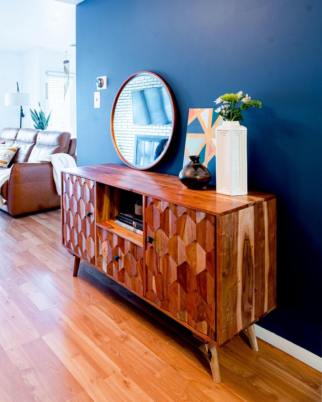 Bold and stylish sitting room
