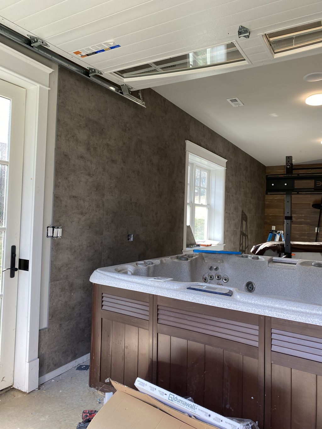 Wall tile and laminate installation