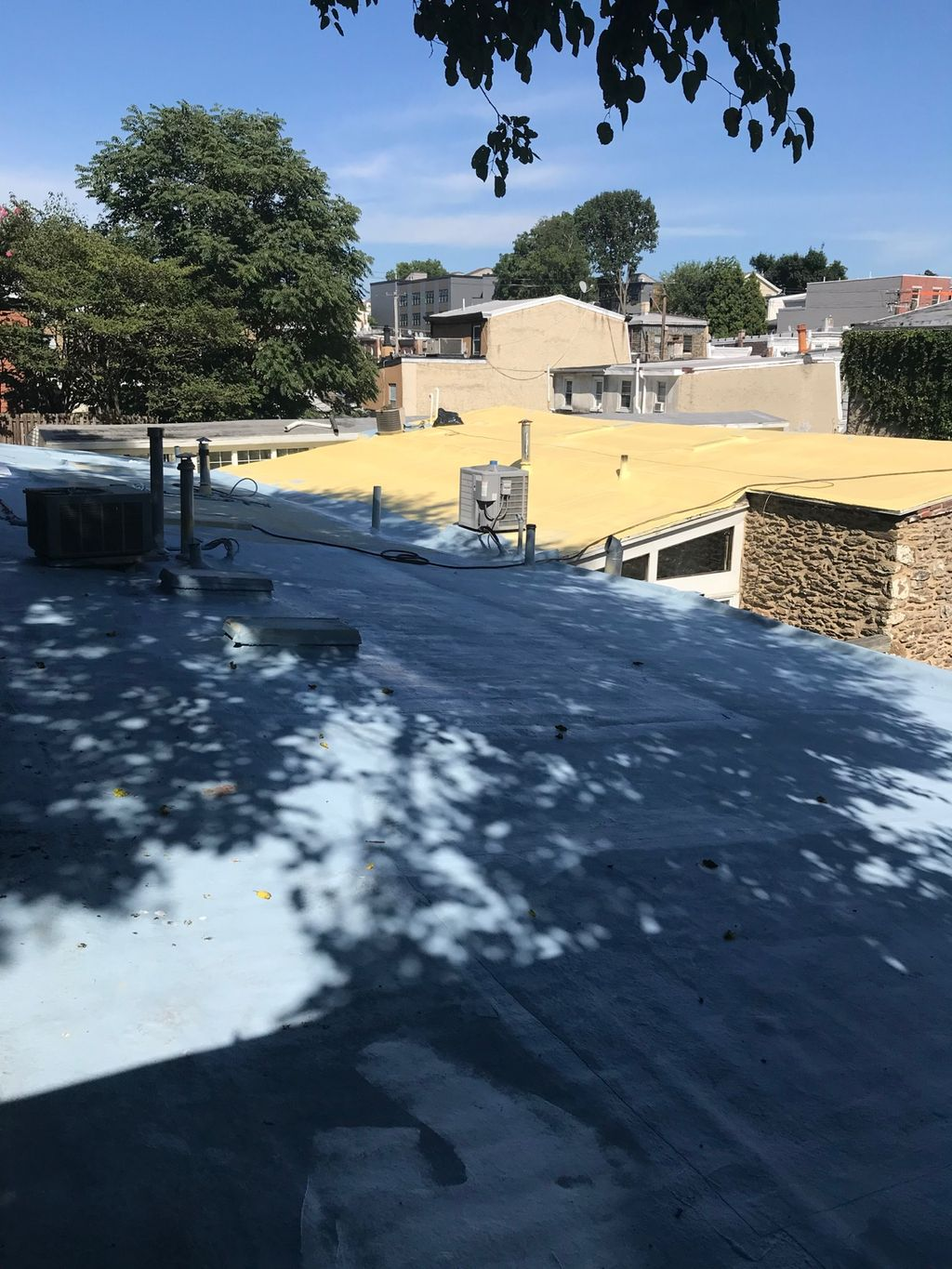 Restored roof and added  foam insulation
