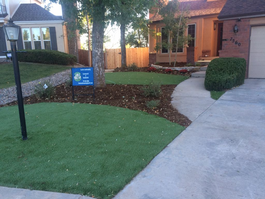 Turf hardscape and landscaping