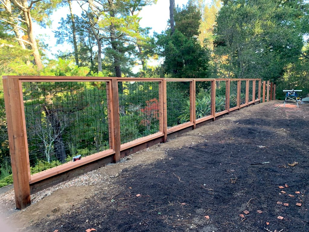 Deer Wire Fence And Landscaping