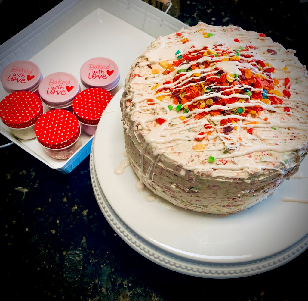 Fruity Pebbles Cereal Cake