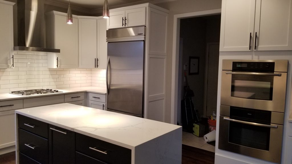 Large Cherry Kitchen updated to white and black