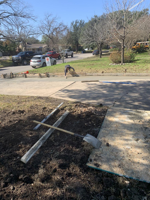 Driveway extension, stamp concrete slab, design slabs