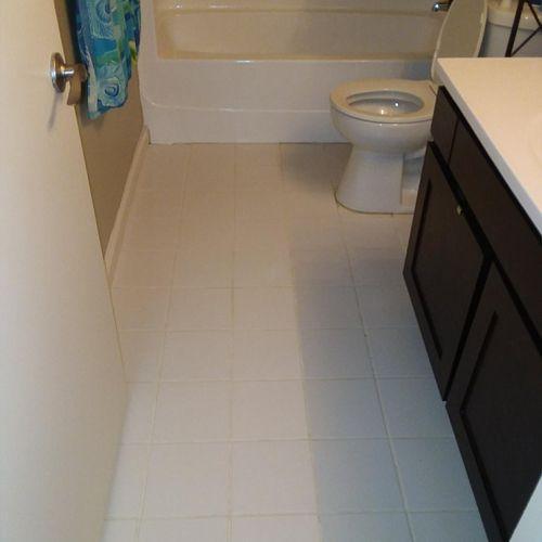 Bathroom Tile Floor (After)