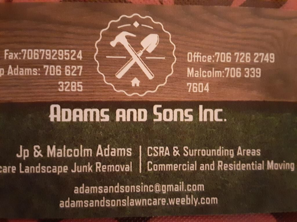 Adams And Sons Inc.