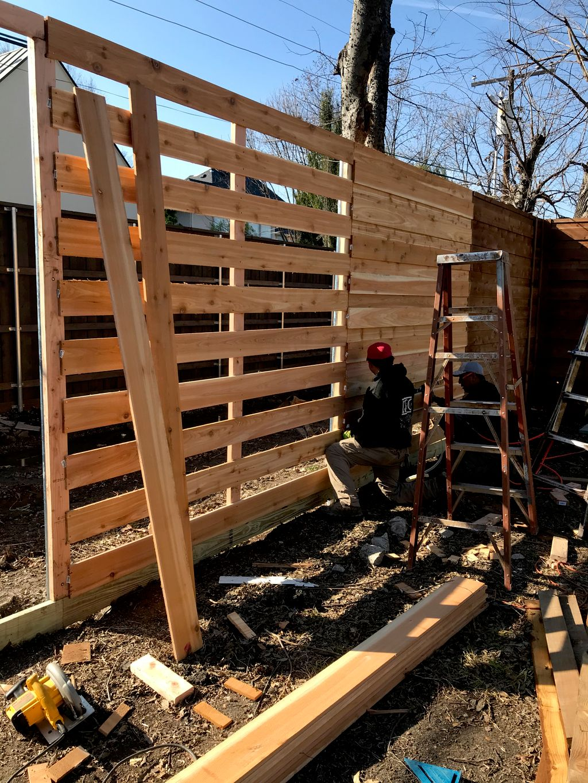 Horizontal Fence in Royal Ln