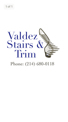 Avatar for Valdez Stairs & Trim Dallas, TX Thumbtack