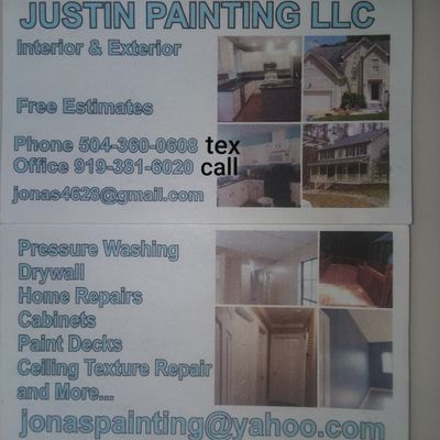 Avatar for Justin painting & Drywall Raleigh, Cary, Durham Durham, NC Thumbtack