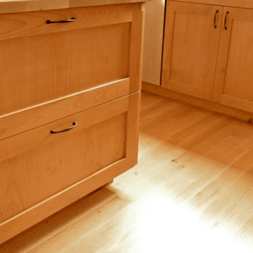 Custom cabinets with a nice natural wood grain finish