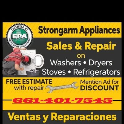 Avatar for Strong Arm Appliance Repair