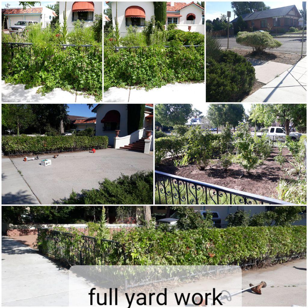 Full Yard Work Weeding Control Prevention