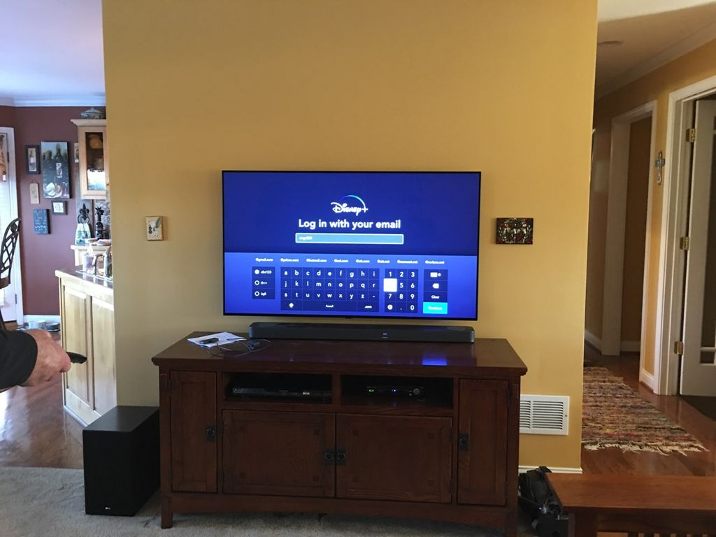 TV Soundbar Setup with Cables Hidden
