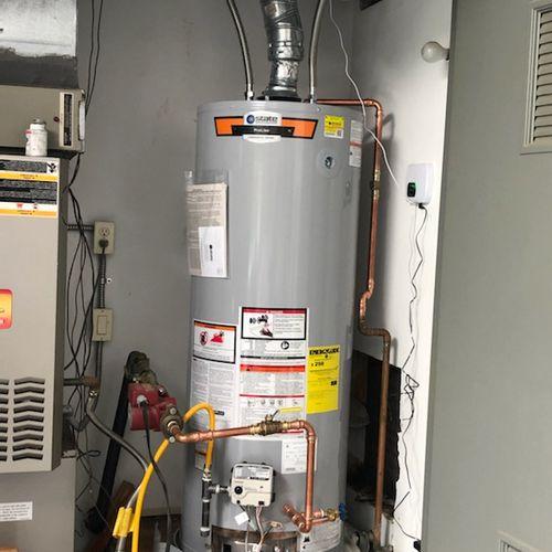 Single water heater installation