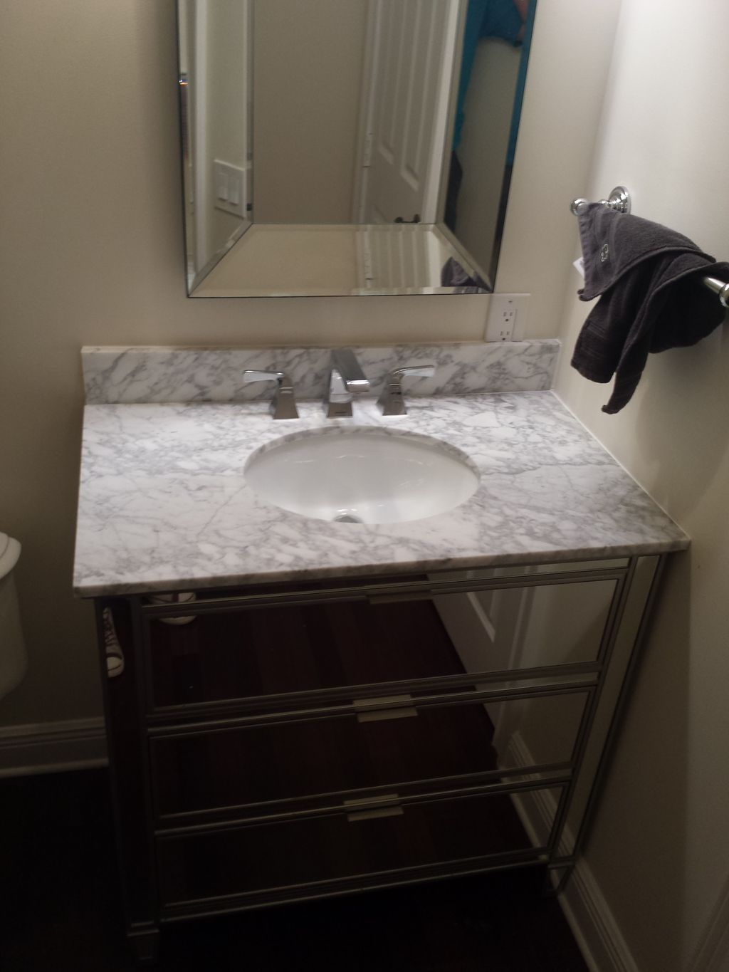 Bathroom sink and vanity replacement