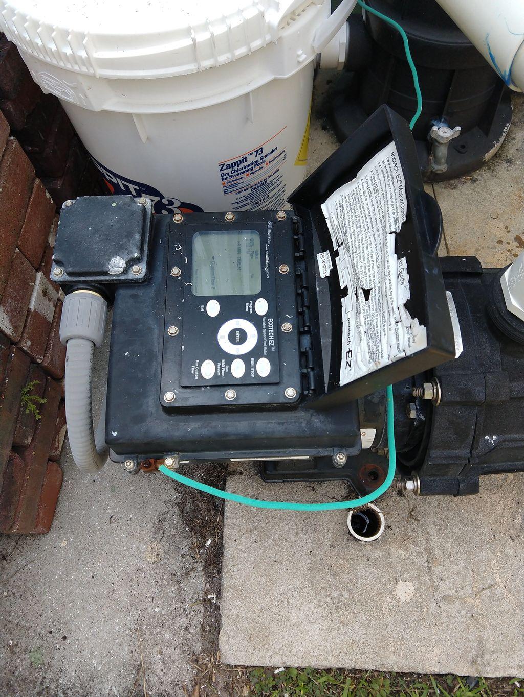 Brushless, variable speed pool pump motor install, pump rebuild
