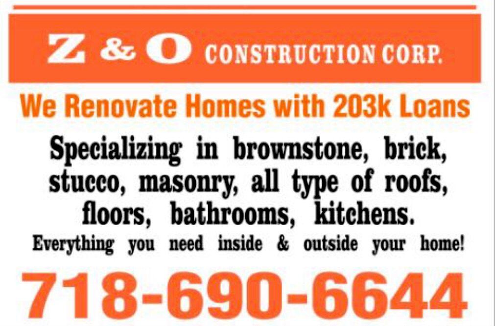 Z & O Construction Corp