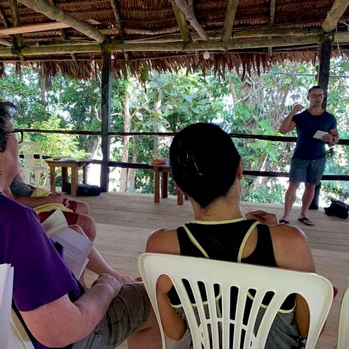 I recently hosted a wellness retreat in the Amazon for almost 20 people teaching the power of taking care of our mind and body!