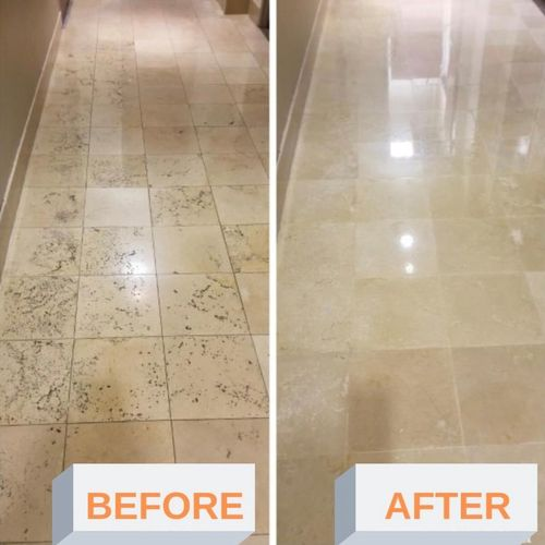 Traverting Floors Restoration