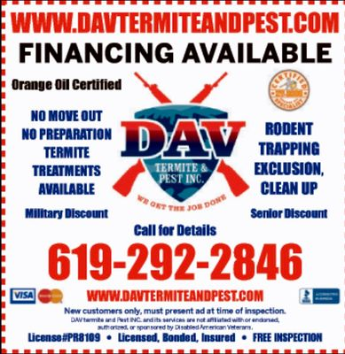 Avatar for DAV  TERMITE AND PEST INC. Chula Vista, CA Thumbtack