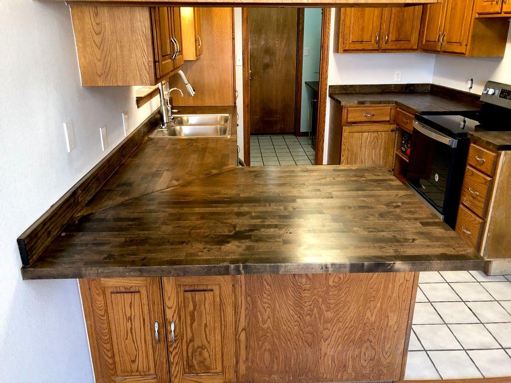 Repairing kitchen drywall & replacing countertop