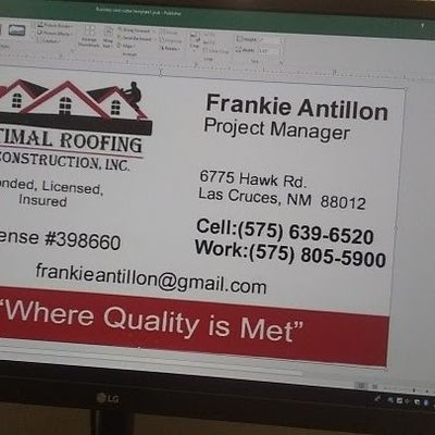 Avatar for optimal roofing and construction inc.