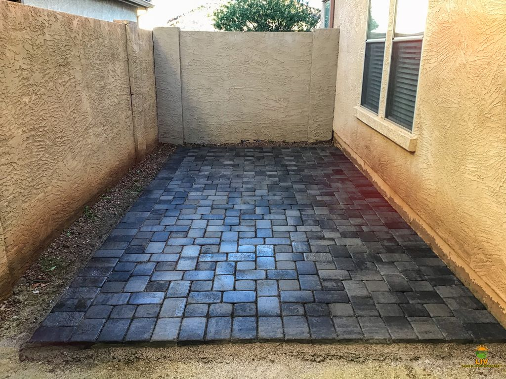 Paver design and rock