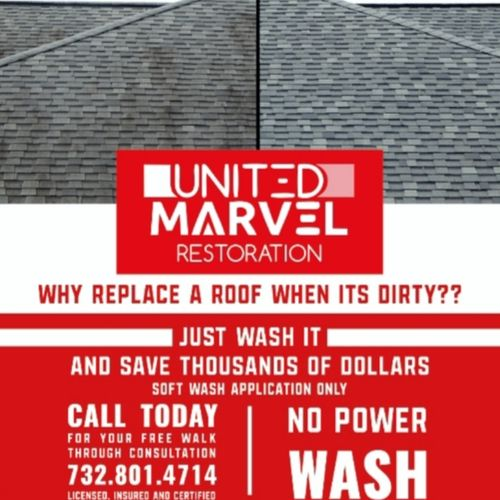 Call today for your free walkthrough assessment. Each cleaning comes with a free visual roof inspection.