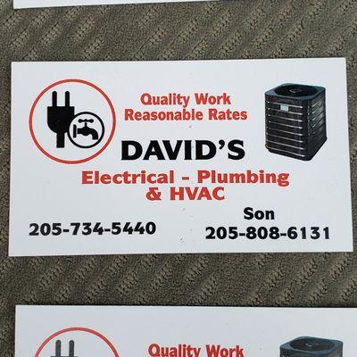 Avatar for David's Electrical-Plumbing & HVAC Bessemer, AL Thumbtack